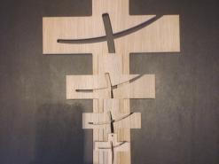 croix en bois, croix murale, croix en chêne, croix  en hêtre