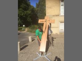 Croix en bois, croix en hêtre, croix en chêne, croix sur socle
