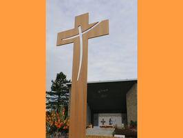 croix en bois, croix à la commande, croix sur mesure, croix de gande dimensions