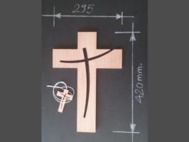 croix en bois, croix murale, croix à suspendre