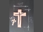 croix en bois, croix murale, croix à accrocher