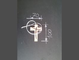 croix pectorale, croix en bois, croix épurée